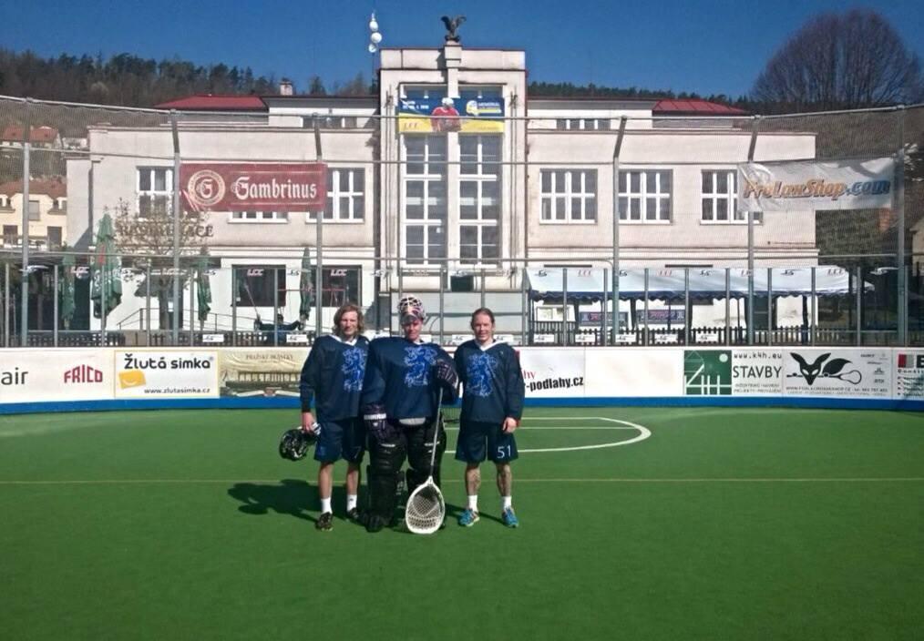 Vasemmalta Valtteri Laaksonen, Janne Pasanen ja Joni Jalvanti. Kuva Aleš Hřebeský Memorial-turnauksesta huhtikuulta.